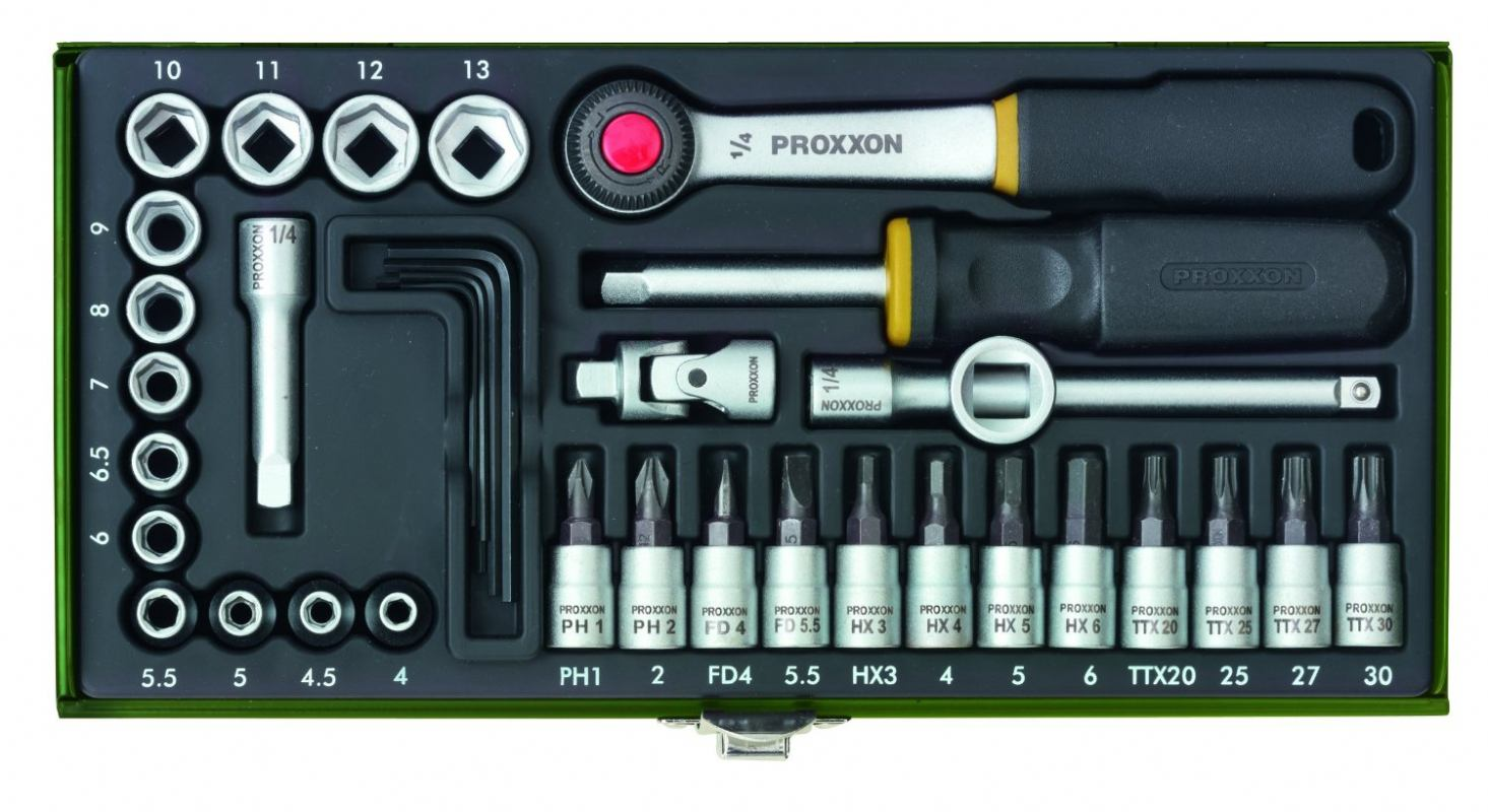 Proxxon 23080 Garnitura nasadnih ključeva 4-13 mm